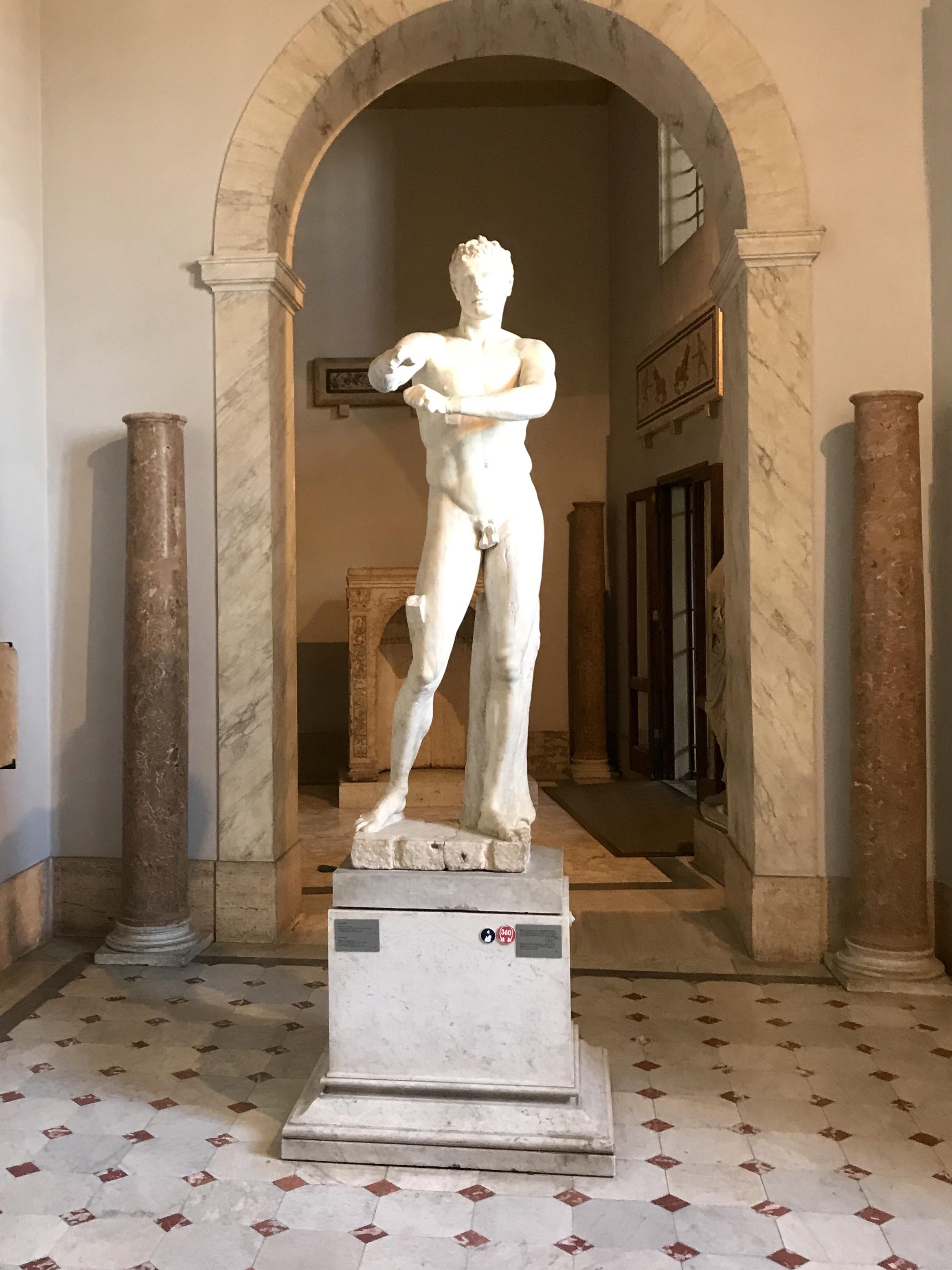 Staty Vatican Museet Rom